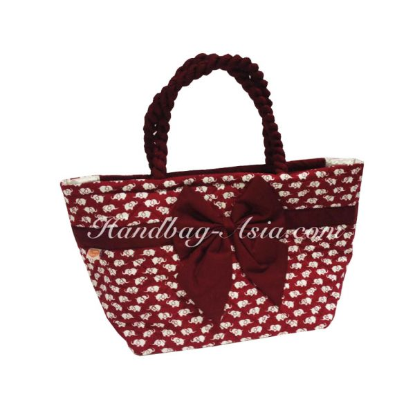 thai quilted cotton elephant handbag