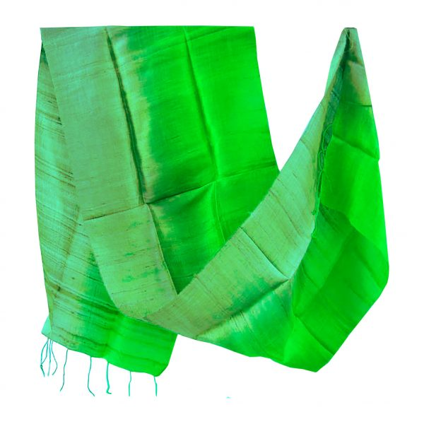 Two tone silk shawl