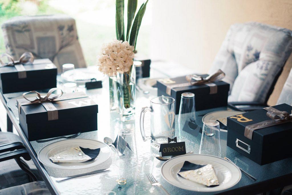 beautiful wedding dinner table
