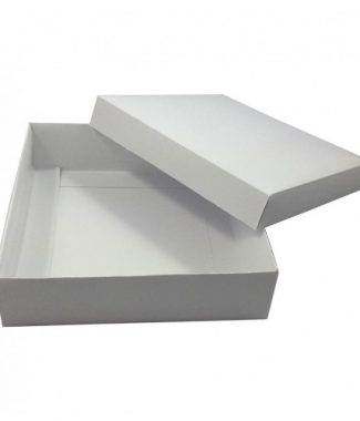 white folded mailing box for invitations