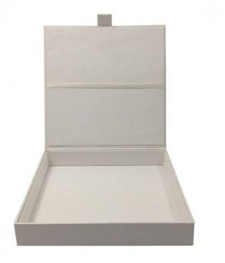 White invitation box