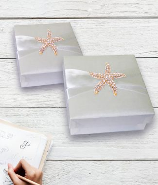 white starfish favor box