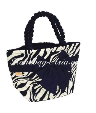 Zebra quilted cotton handbag