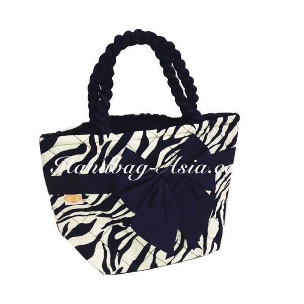 Zebra quilted cotton handbag