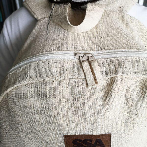 zippered hemp backpack