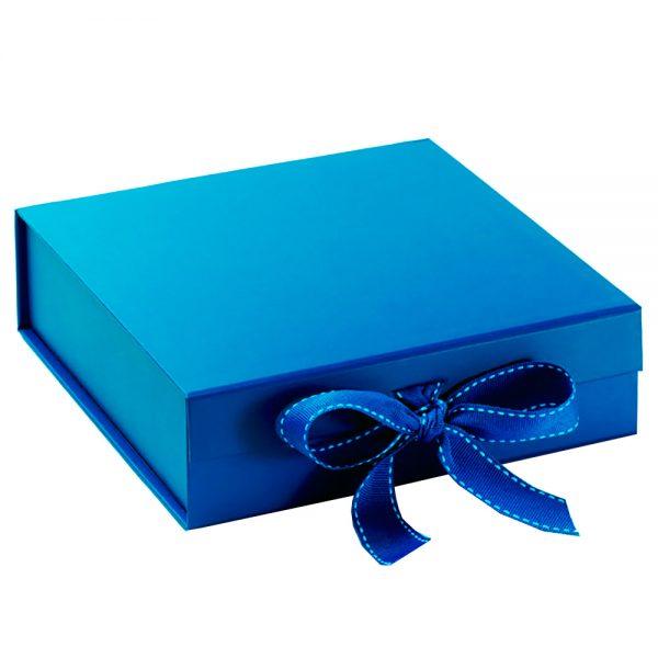 handmade blue paper wedding invitation box from Thailand