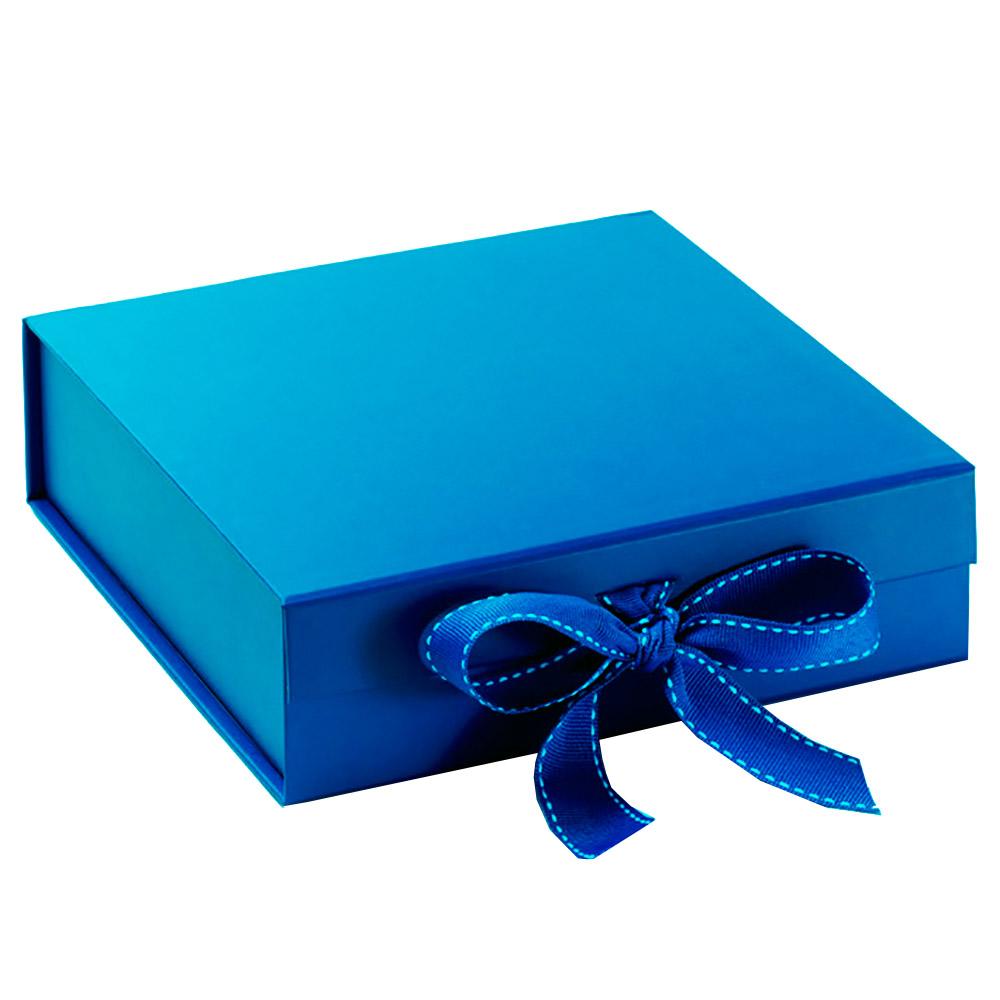 Handmade Blue Cardboard Paper Wedding Invitation Box With