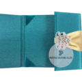 high end wedding pocket folder with rhinestone brooch for wholesale