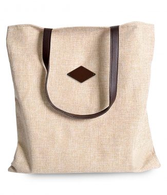 Zippered cotton tote bags