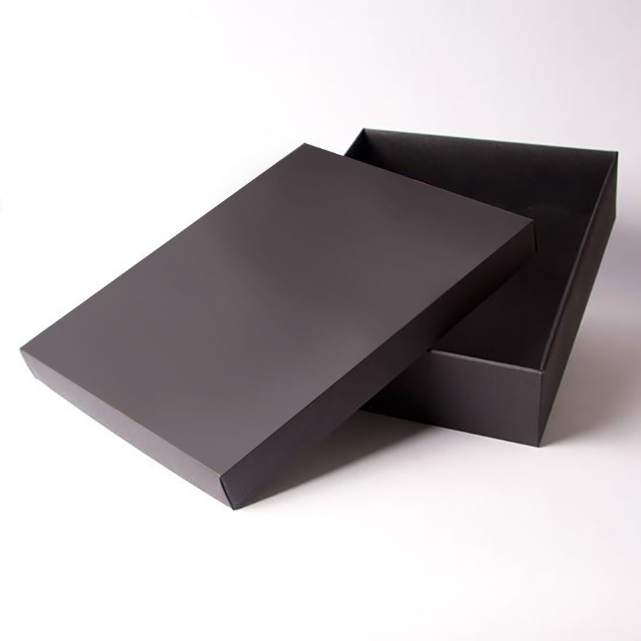 Gift Box Wedding Invitations: Black Handmade Mailer Box For Wedding Invitations