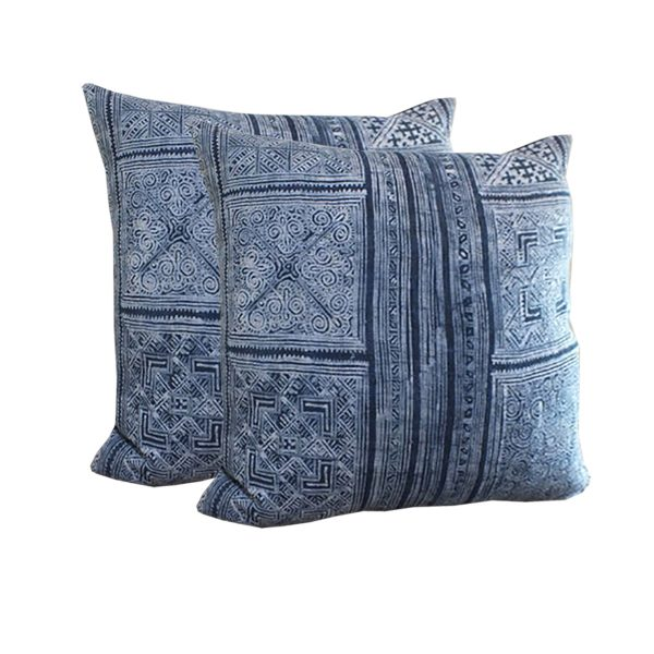 Hmong hemp and cotton pillow cover from Thailand