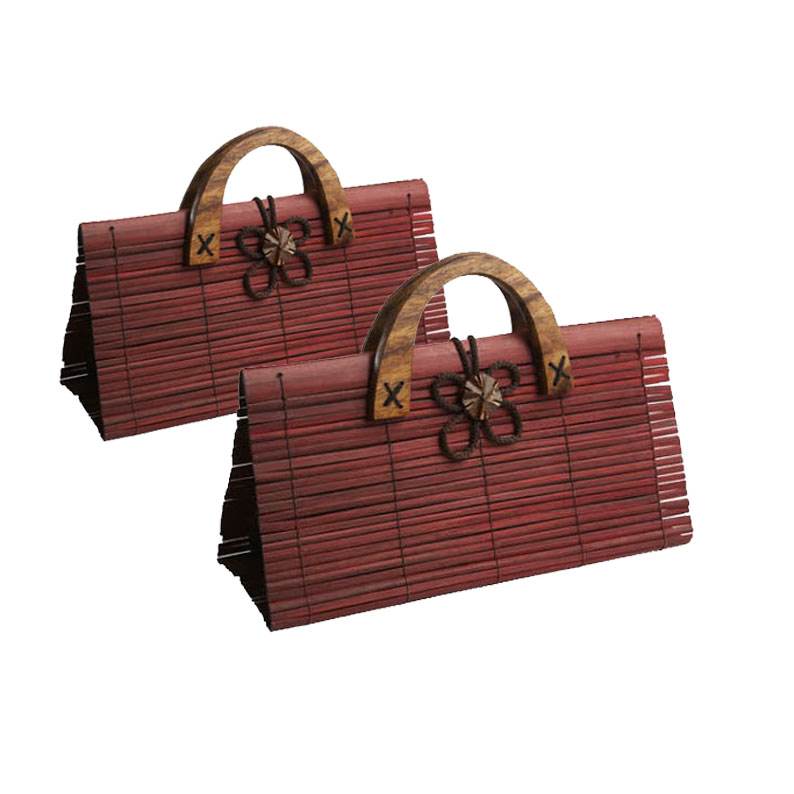 Brown Bamboo Handbag