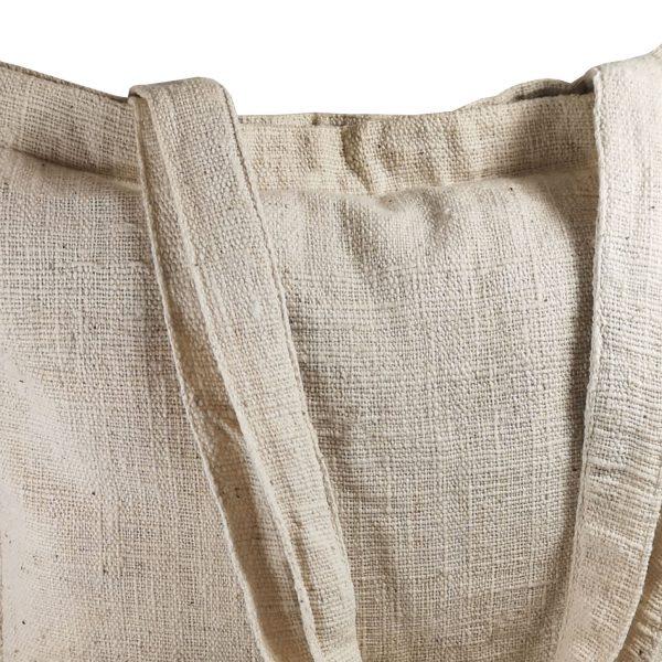 close up hemp bag
