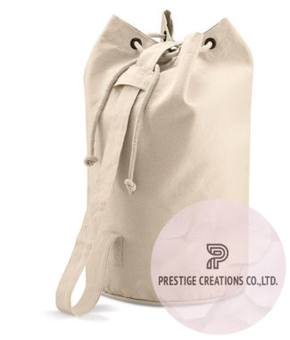 cotton drawstring beach bag