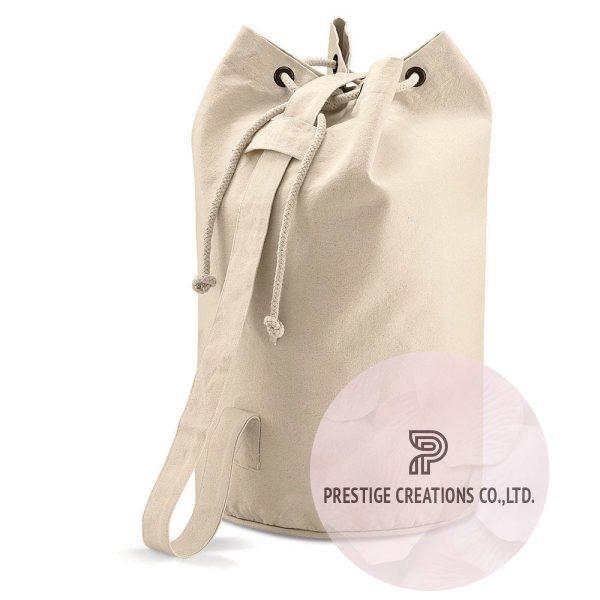 cotton drawstring beach bag