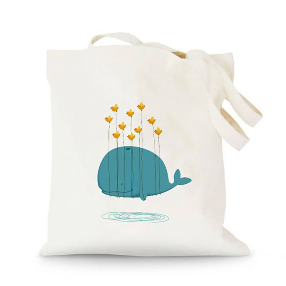Design example of printed cotton grocery bag
