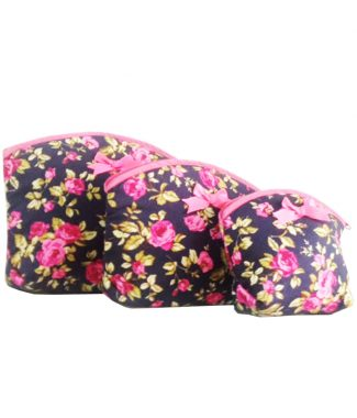 flower cotton cosmetic bags