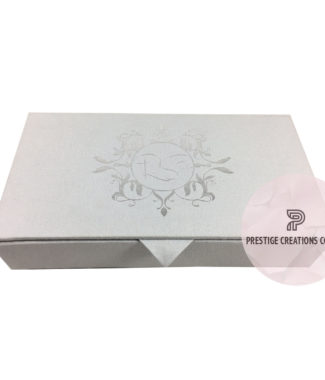 Foil Stamped Linen Wedding Invitation Box