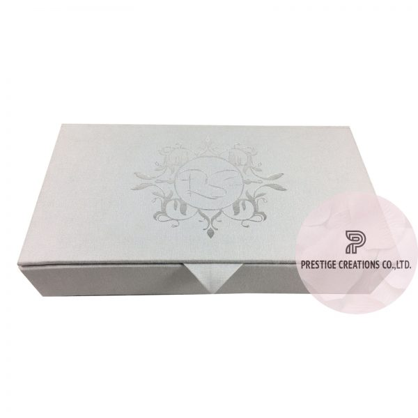Foil Stamped Linen Wedding Invitation Box