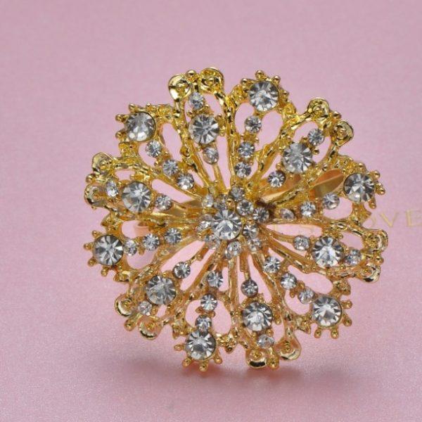 golden wedding brooch
