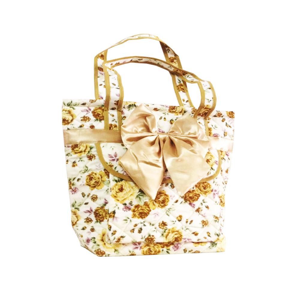 Quilted Satin Cotton Handbag