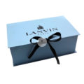 Handmade Soft Blue Cardboard Box With Ribbon Bow Closure