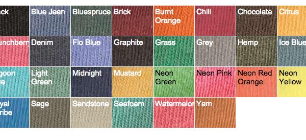 Hemp Color Chart