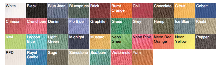 Hemp Color Chart