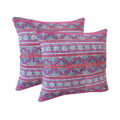 Thai hemp pillow with hill tribe fabrics for wholesale