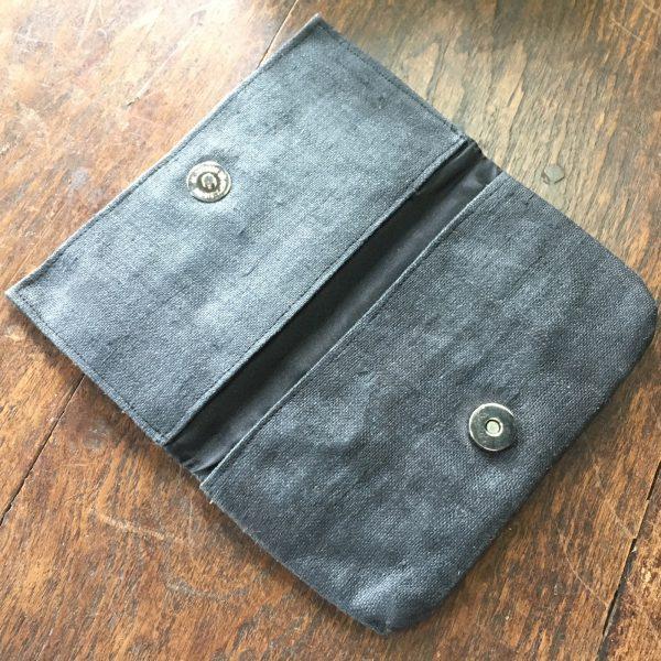 hemp purse in navy blue for eco bag friends