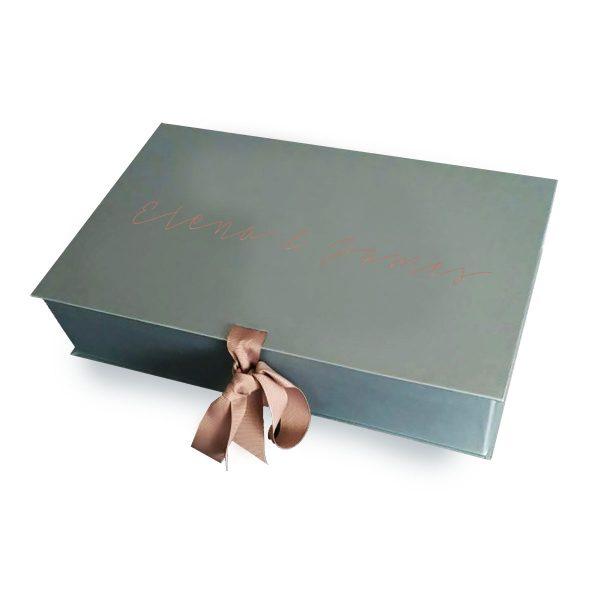 luxury embossed wedding box