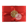 red wedding invitation pocket folder for luxury invitations