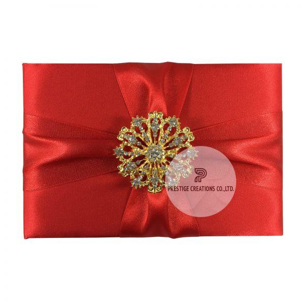 red wedding invitation pocket folder for luxury invitations