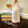 personalized cotton wine bottle bag