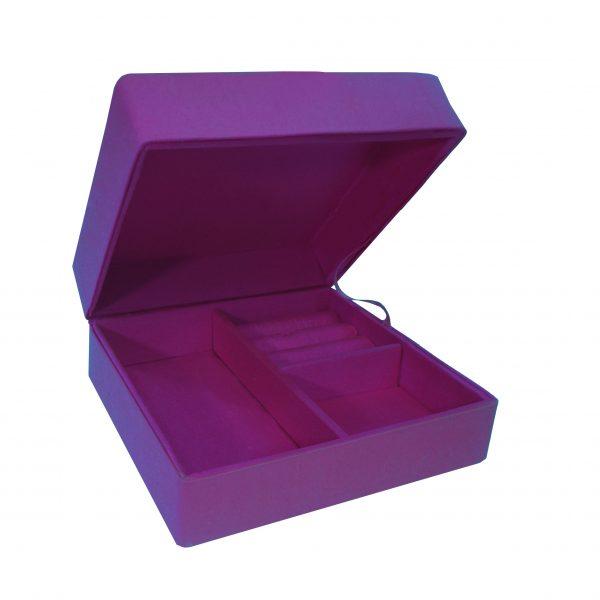 purple silk jewelry box