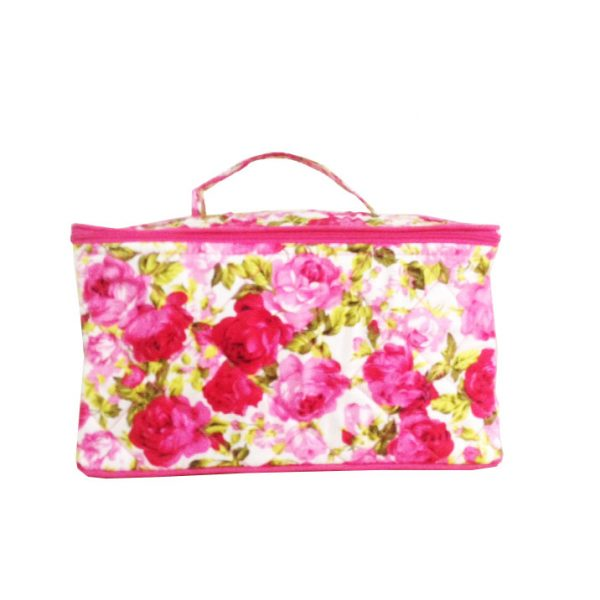 quilted cotton cosmetic bags