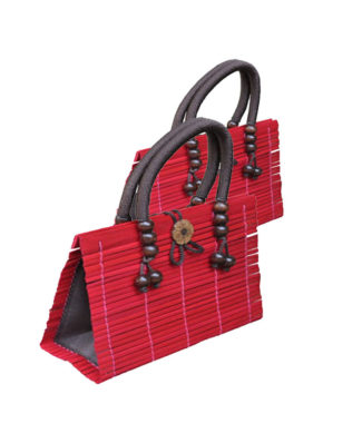 Red Bamboo Handbag