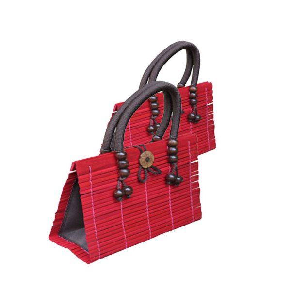 Red Bamboo Handbag