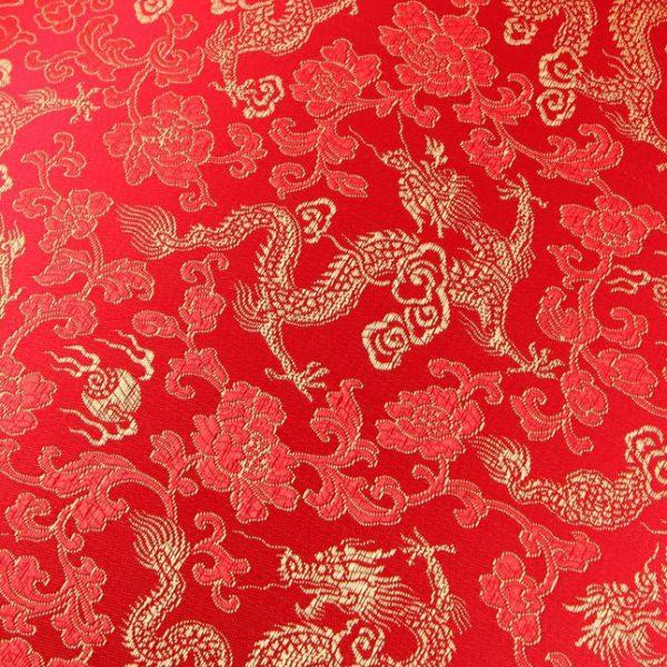 Red Chinese silk