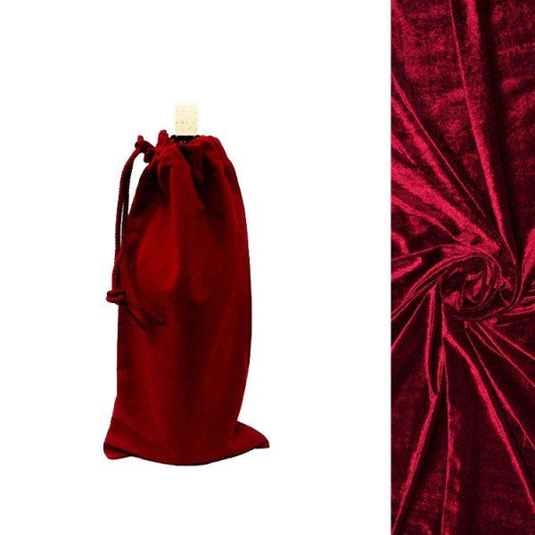 red velvet wine bottle bags