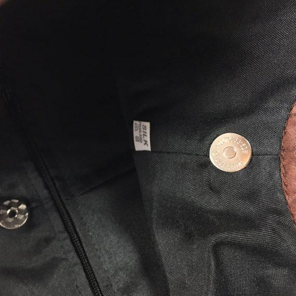 zippered silk bag