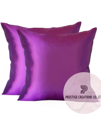 Taffeta silk pillow cover