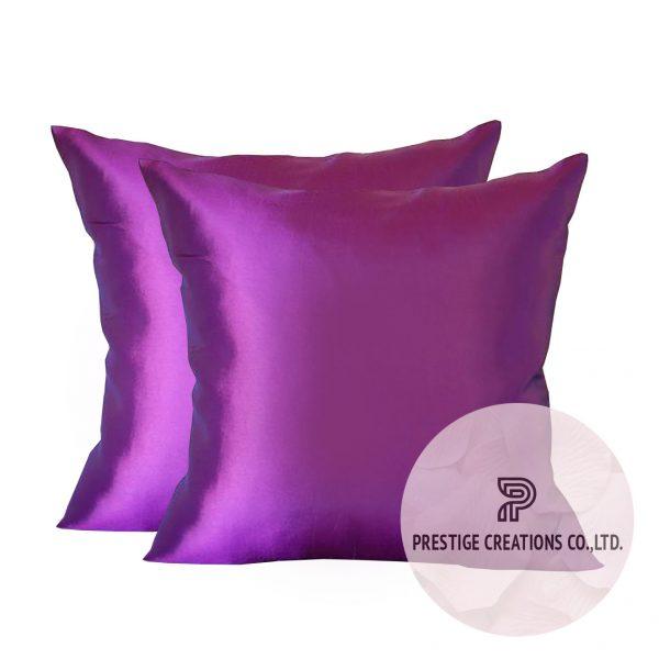 Taffeta silk pillow cover