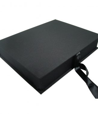 Black silk photo album box