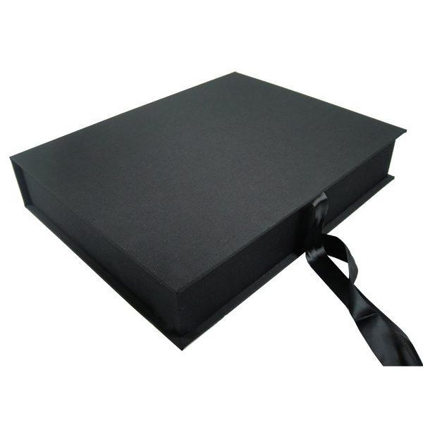 Black silk photo album box