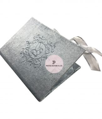 Blind Embossed Velvet Invitation Folder