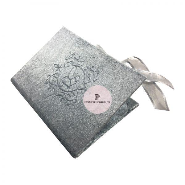 Blind Embossed Velvet Invitation Folder