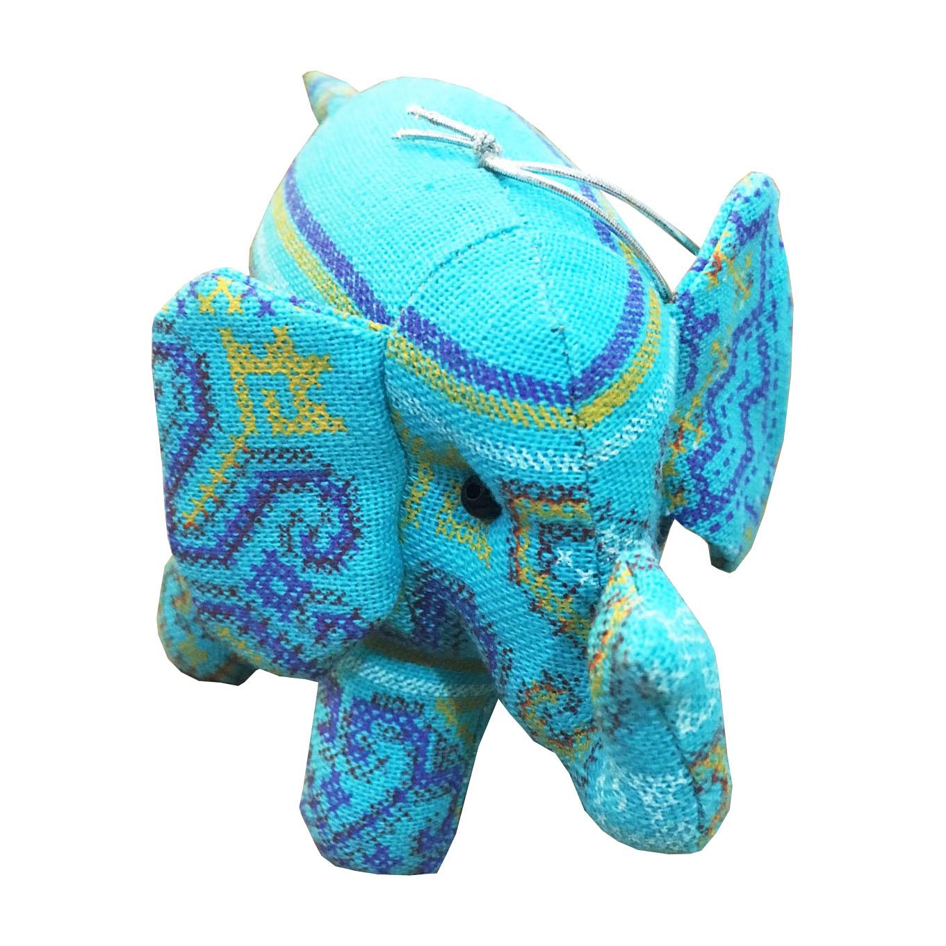Thai Wedding Gifts: Handmade Blue Thai Cotton Elephant