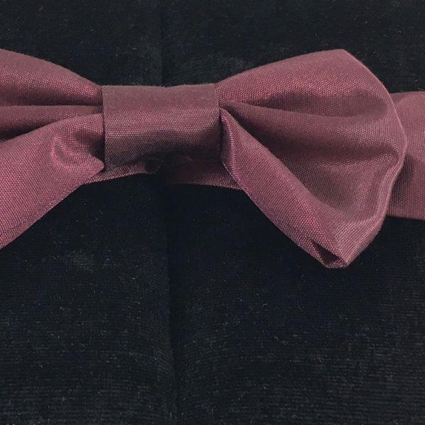 burgundy silk bow