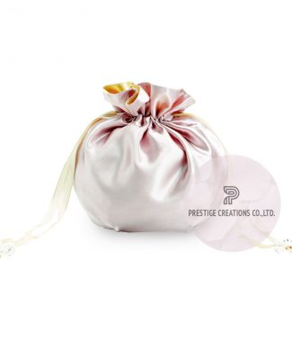 beautiful ivory drawstring bags